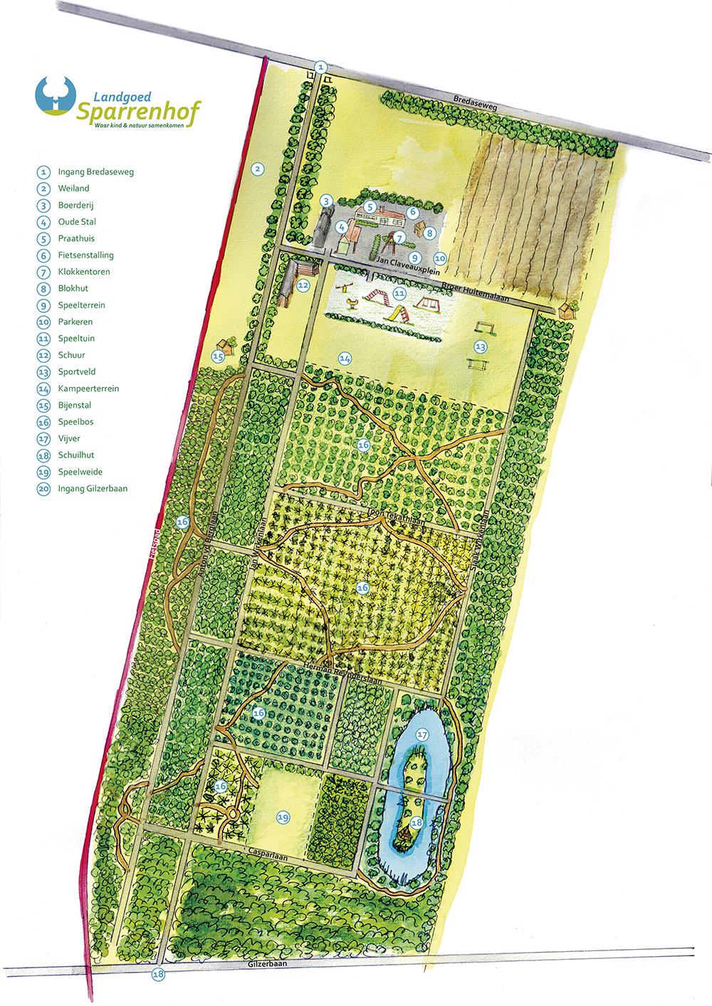 LandgoedSparrenhof_Plattegrond.indd